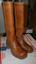 Womens Vintage TEXAS Boots High Shaft Size 6.5 Cowboy Western