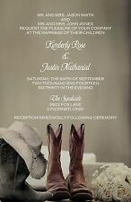 Wedding Invitations Cowboy Boots Personalized - 50 Invitations & RSVP Cards