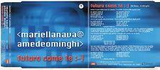AMEDEO MINGHI MARIELLA NAVA CD single FUTURO COME TE 2000 SANREMO promo 1TRACCIA