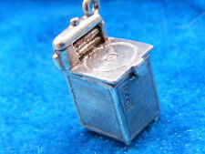 VINTAGE STERLING SILVER CHARM WASHING MACHINE OPENS