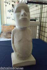 ESTATUA ISLA DE PASCUA MOAI de 31 cm. Figura de escayola para pintar