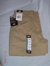 New Women's Dickies Multi-Pocket Pants Relaxed Fit Khaki (SIZE 8R)
