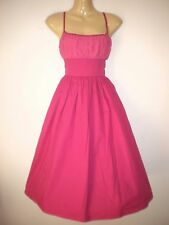 NEW VINTAGE 50'S STYLE PINK ROCKABILLY SWING TEA EVENING STRAPPY DRESS SIZE 10
