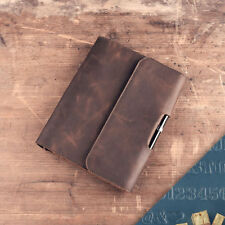 Handmade Leather Notebook Vintage Blank Diary Journal Loose Leaf Travel Kraft A5