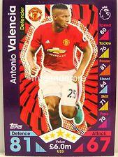 Match Attax 2016/17 Premier League -  U33 Antonio Valencia - Update
