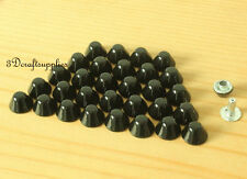 Purse feet studs leather rivet bag clothing shoes  100 sets 8 mm black M65A