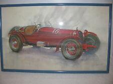 ALFA ROMEO 1931 LeMans Winner Race Car Print William Kuhlman Framed under glass