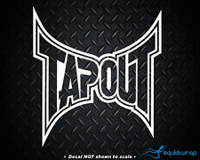 TAPOUT UFC MMA Car Decal / Laptop Sticker - WHITE 6""