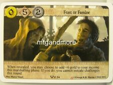 A Game of Thrones LCG - 1x Feast or Famine #054 - Ice and Fire Draft Starter
