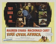 Fire Over Africa (Malaga) 1954 16mm Feature B&W Spy Thriller Maureen O'Hara