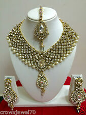 New Indian Bollywood Style Gold Plated Fashion Bridal Jewelry Necklace Set