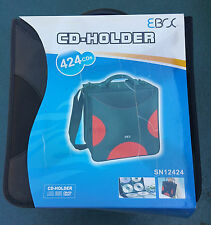 EBOX 424 CAPACITY CD/DVD BLACK HOLDER CARRYING CASE w/HANDLE