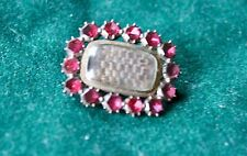 Mourning Brooch with red stones (garnet?)