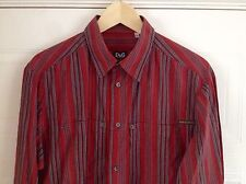 Awesome MENS RED D&G SHIRT Size XL - Measured 42 Inch Chest