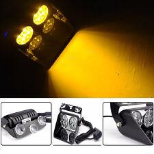 Car 8 LED Amber Police Strobe Flash Light Dash Emergency Flashing Light 12V 24V