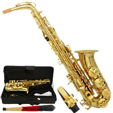 MBAT Professional Alto Eb Saxophone Sax Gold w/ Case Mouthpiece & Accessories
