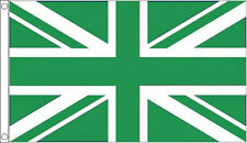 5' x 3' Green and White Union Jack Flag Sport Team Club Earth Green Day Banner