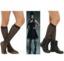 LoveSick High Fashion Black FISHNET KNEE-HIGH SOCKS HOT TOPIC FREE SHIPPING NEW