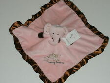 NWT Carters Mommy Loves Me Pink Elephant Security Blanket Rattle Lovey Baby Toy