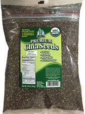 3 POUNDS CERTIFIED ORGANIC Black Chia Seed Get Raw Seeds Gluten-Free Non-Gmo