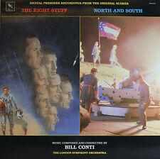"""THE RIGHT STUFF - NORTH AND SOUTH - BILL CONTI 12"""" LP (Q659)"""