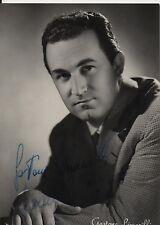 GASTONE LIMARILLI  AUTOGRAFO ORIGINALE A  singer autograph signed originale
