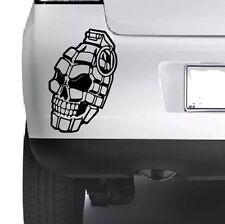 Skull Hand Grenade Weapon Car Window Wall Laptop Macbook Vinyl Decal Sticker