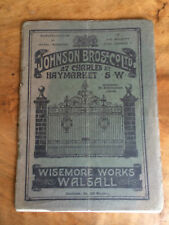 Johnson Bros Fencing and Gates, Wiseman Works Walsall 1920s Catalogue