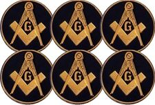 Masonic Car Auto Emblem - Six Pack (Dark Blue MAE-2-6)