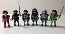 Geobra Playmobil Soldier Figures w/ Weapons Helmet Beard LOT of 6 Men