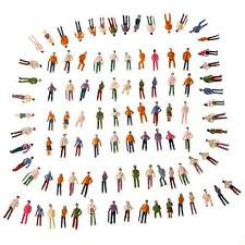 100X OO Scale 1:75 Mix Painted Model Train Street Passenger People Figures O5I6