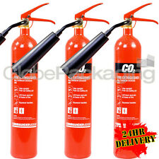 3 x 2KG CO2 CARBON DIOXIDE FIRE EXTINGUISHERS WAREHOUSE OFFICE HOME NEW *24HRS*