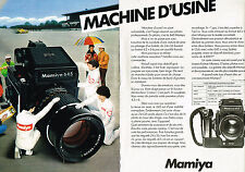 PUBLICITE  1980   MAMIYA 645    appareil photo ( 2 pages)