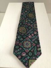 KENZO PARIS MENS MULTI COLOR MIXED FOULARD PATTERN SILK TIE MADE IN ITALY