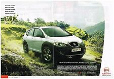 Publicité Advertising 2006 (2 pages) Nouveau Seat Atea Freetrack 4X4