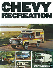 Truck Brochure - Chevrolet - Recreation RV Camper - 1977 - Chevy  (T1548)