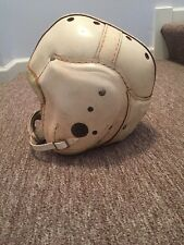 1940's-1950's MacGregor H612 White Leather Football Helmet