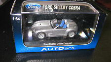 AUTOart 1.64 FORD SHELBY COBRA CONCEPT CAR 2004 SILVER WITH GREY STRIPE 20541