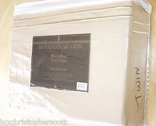New Hotel Collection 3 Pc Twin Embroidered Microfiber Sheet Set Gold Easy Care!