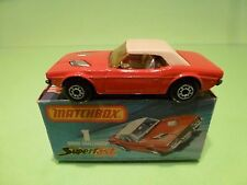 MATCHBOX 1 SUPERFAST DODGE CHALLENGER - RED + YELLOW WINDOWS - NEAR MINT IN BOX