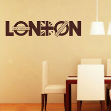 London Underground Vinyl Art Wall Sticker Home Decals Quote Removable Decal