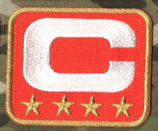 SUPERBOWL NFL DENVER BRONCOS CAPTAINS ORANGE JERSEY FOUR-STAR 4-STAR C-PATCH