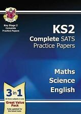 New KS2 Complete SATS Practice Papers Pack: Science, Maths & English CGP