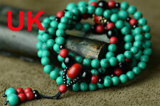 Tibet Buddhist  turquoise Green 6mm prayer beads Bracelet Necklaces uk