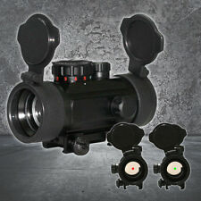 Holographic Reflex Red/Green Dot Rifle scope w/ Flip-up Lens Covers Dual Mount
