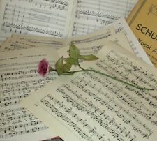 80 Vintage Sheet Music Paper Scores for Decoupage, Cards, Scrapbooks, Crafts,Art