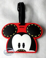 Disney Mickey Mouse 3D Luggage Tags BAG Name Tag holder Travel school trip girls