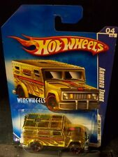 HOT WHEELS 2009 #110 -190-1 ARMORED TRUCK GOLD AMER CA