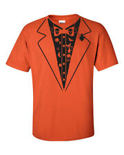Halloween Tux Tuxedo Spider Pumpkins Witch Skeleton Men's Tee Shirt 1004