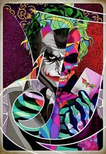 THE JOKER SUICIDE SQUAD ANIMATION ART IMAGE A4 Poster Gloss Print Laminated
